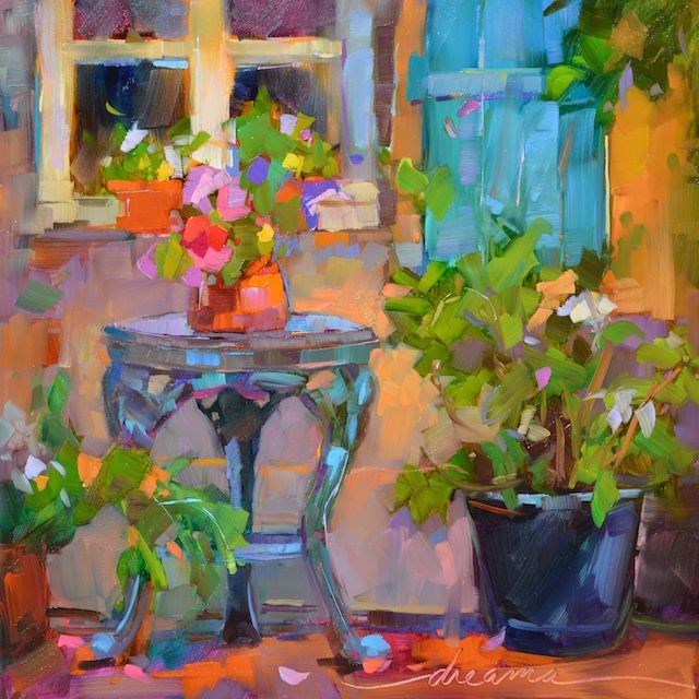 """""""Pieces of France  SOLD"""" original fine art by Dreama Tolle Perry"""