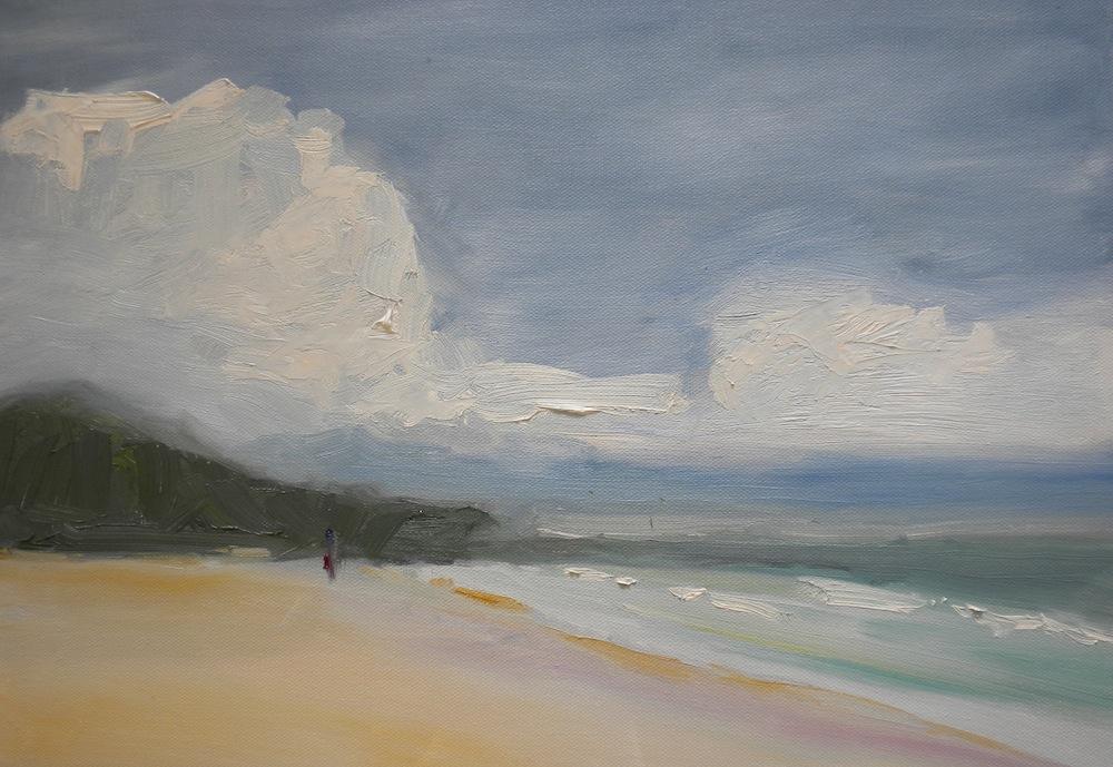 """Strolling Makena"" original fine art by Janet Bludau"