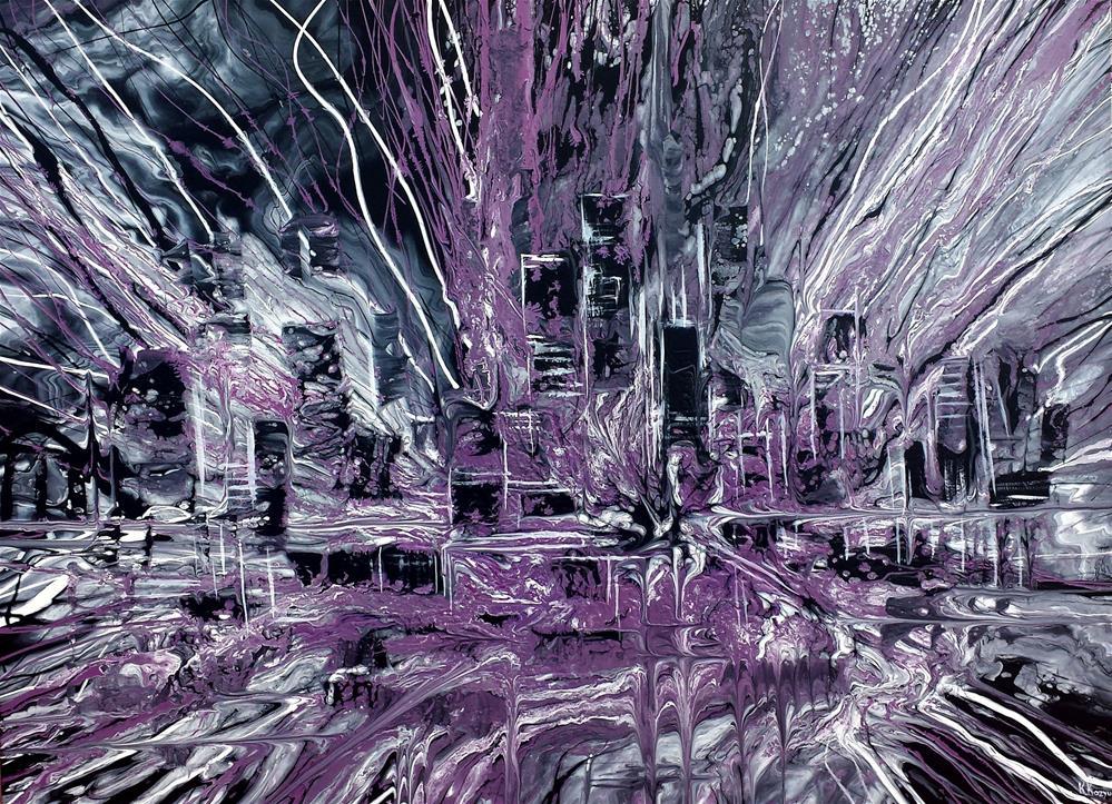 """Urban Life"" original fine art by Khrystyna Kozyuk"