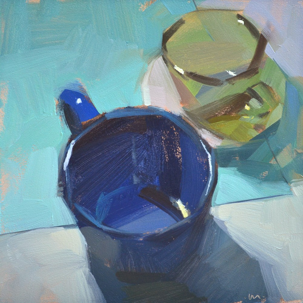 """Corner Cups"" original fine art by Carol Marine"