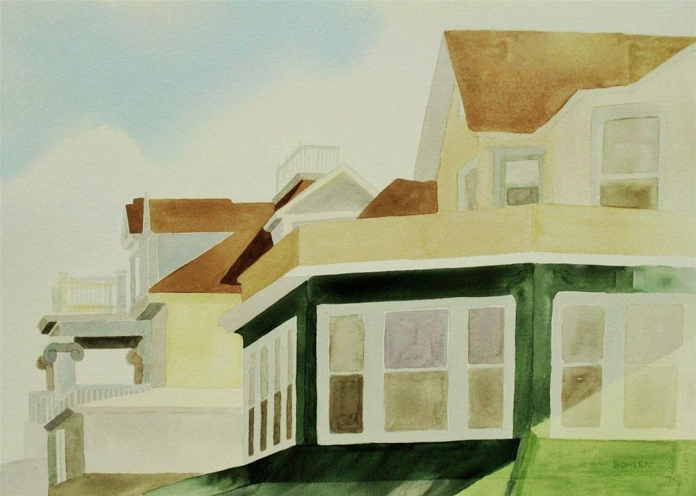 """""""Ocean City"""" original fine art by Priscilla Bohlen"""