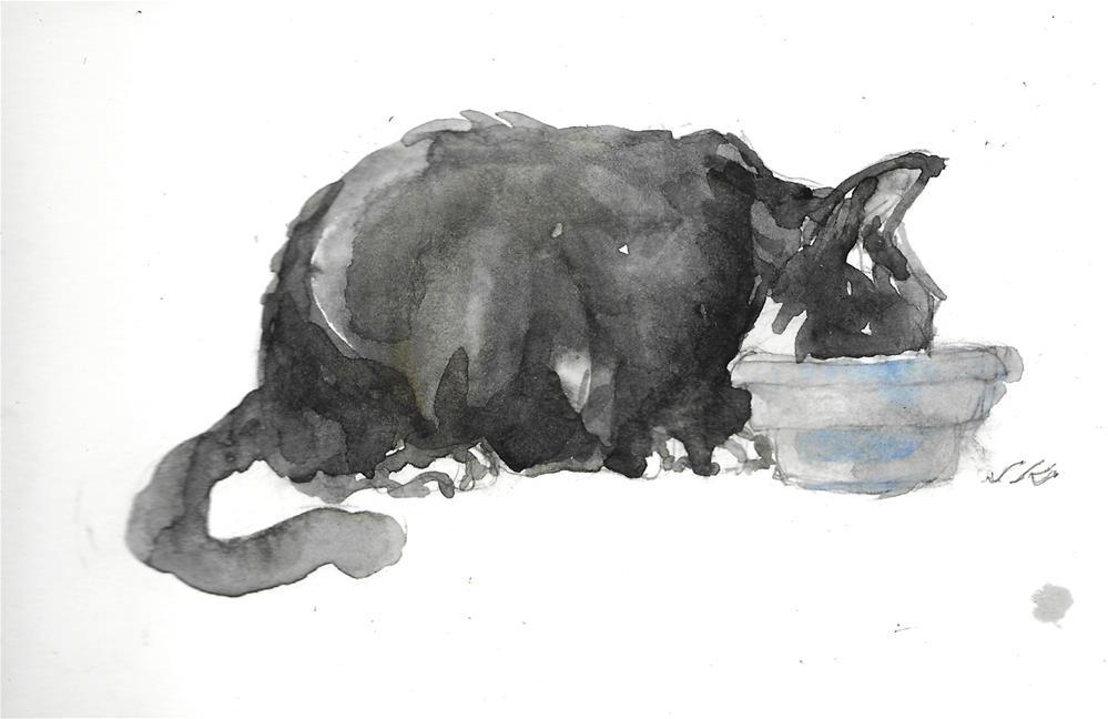 """Daily Cat 46"" original fine art by Jean Krueger"