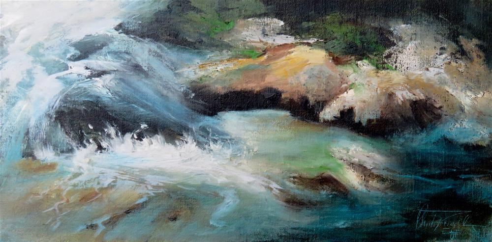 """Splashing"" original fine art by Christa Friedl"
