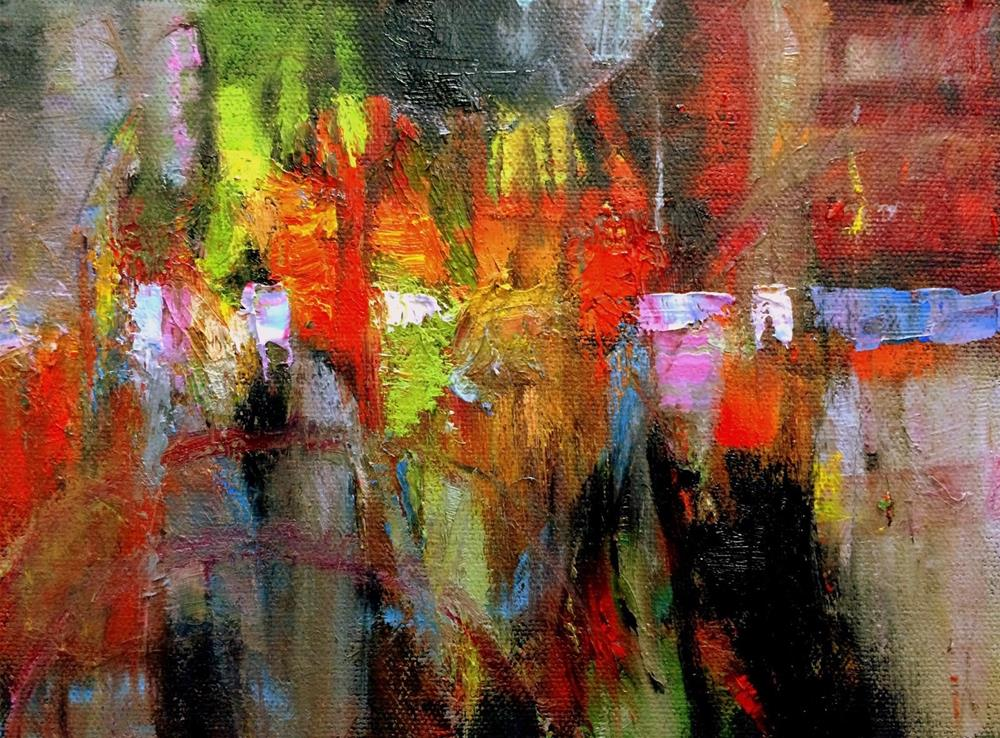 """Challenge Abstract"" original fine art by Julie Ford Oliver"
