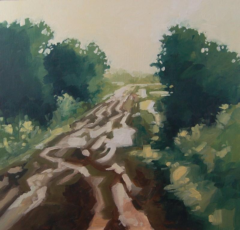 """No 432 Muddy Road"" original fine art by Robin J Mitchell"
