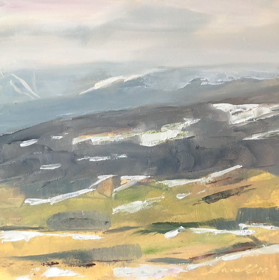 """#195- After the Rain -Stowe, VT"" original fine art by Sara Gray"