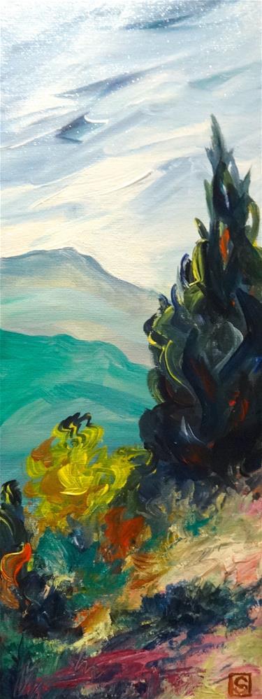 """""""4189 - Vantage - Exhibition Size"""" original fine art by Sea Dean"""