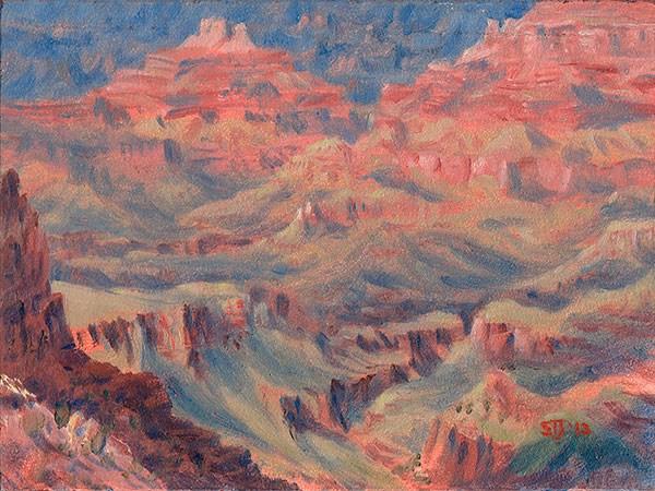 """C1502 Afternoon Cloud Shadows … Grand Canyon"" original fine art by Steven Thor Johanneson"