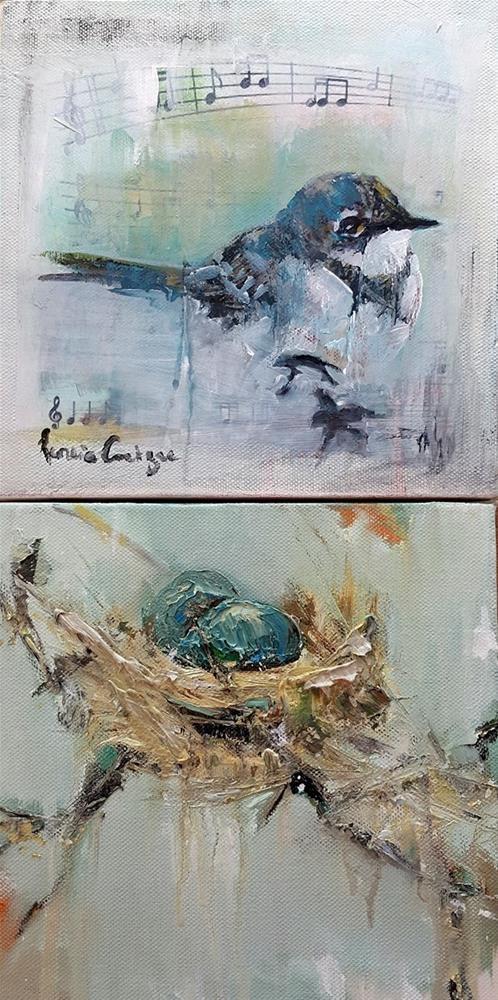 """""""Birdsong and Safehaven"""" original fine art by Rentia Coetzee"""