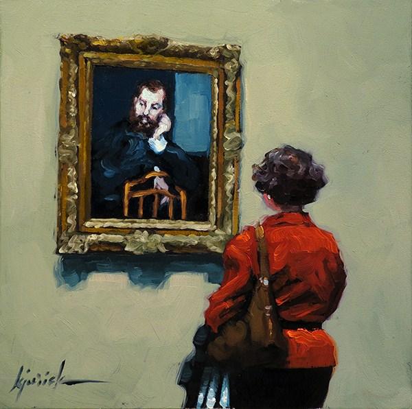 """Alfred"" original fine art by Karin Jurick"
