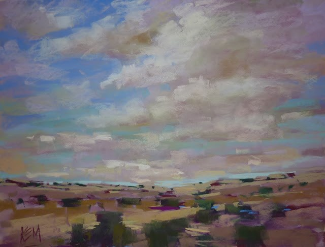 """""""How to Paint Beautiful Skies and Clouds....Live Demo and Booklet"""" original fine art by Karen Margulis"""