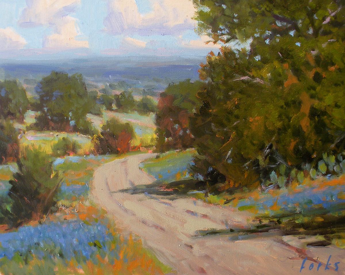 """Bend in the Road"" original fine art by David Forks"