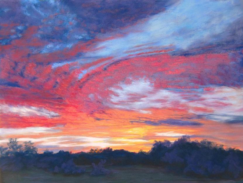 """Nature's Furnace"" original fine art by Ruth Mann"