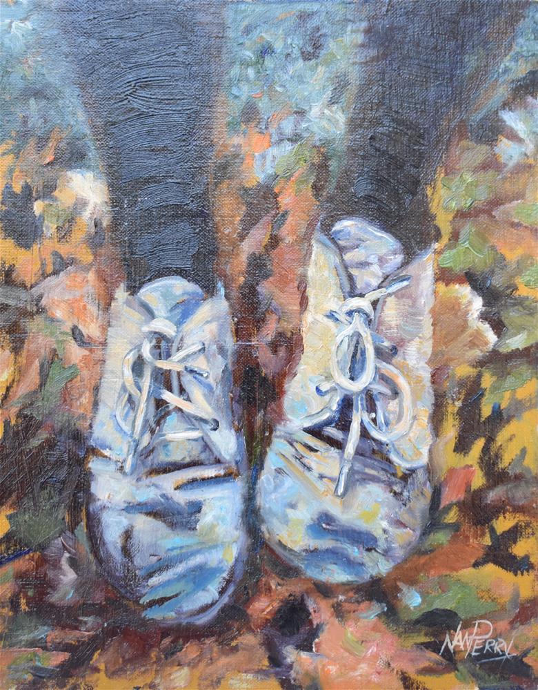 """""""Foot Rest"""" original fine art by Nan Perry"""