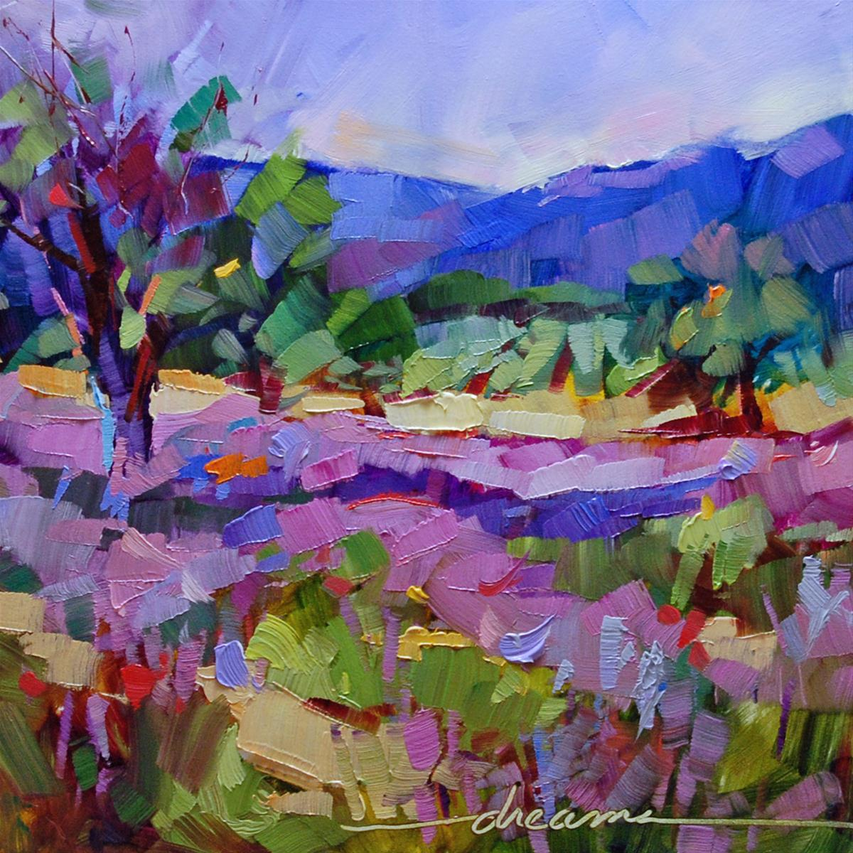 """""""High on Lavender"""" original fine art by Dreama Tolle Perry"""