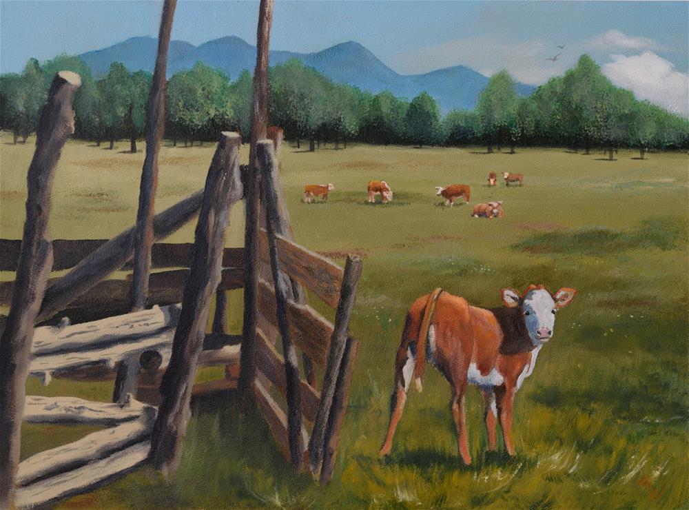 """Free Range"" original fine art by Michelle Wolfe"
