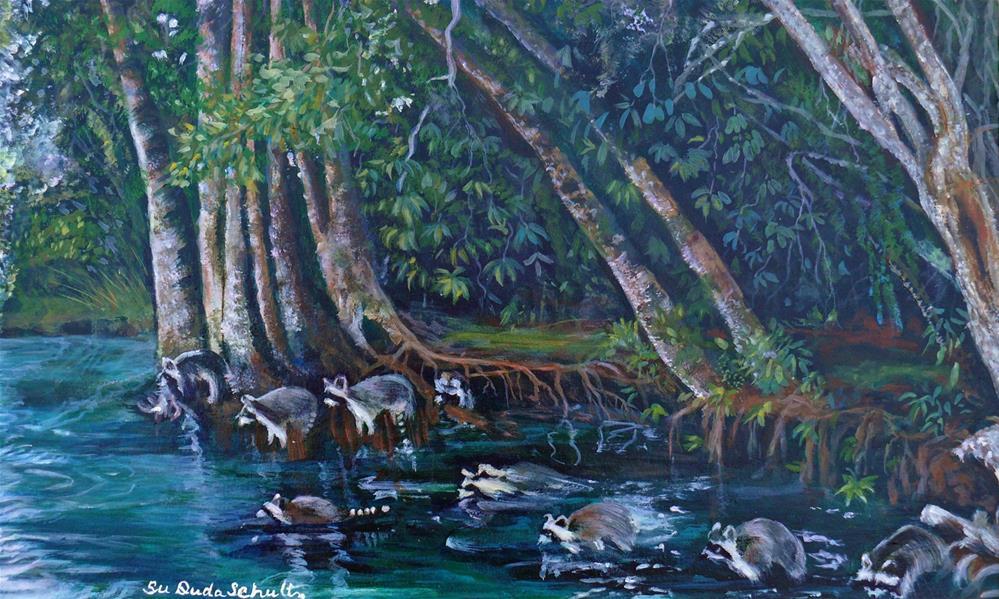 """The Exodus"" original fine art by Susan Duda"