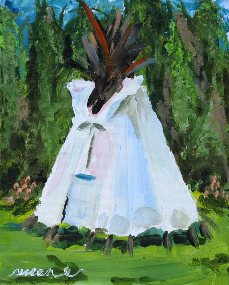 """Teton Teepee"" original fine art by Susan Elizabeth Jones"