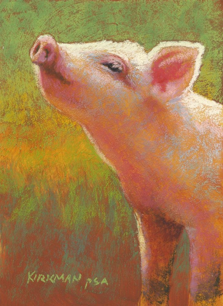 """""""Little Pink"""" original fine art by Rita Kirkman"""