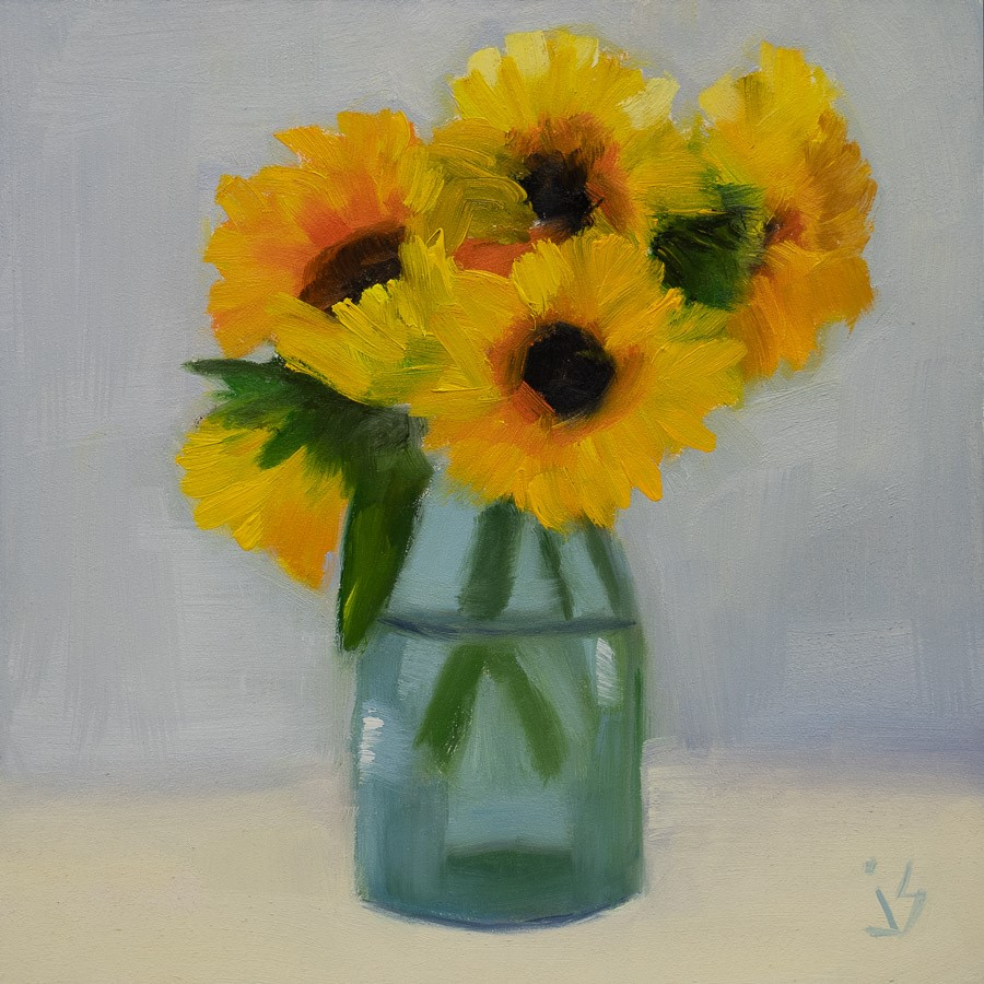 """Bunch of Sunshine"" original fine art by Johnna Schelling"