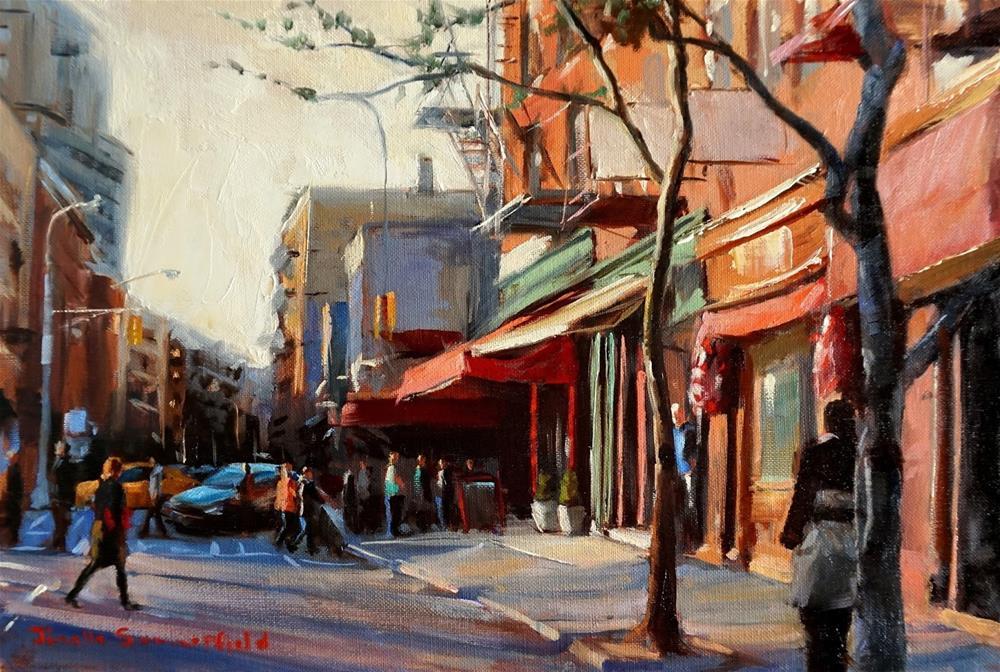 """""""Afternoon in Greenwich Village II"""" original fine art by Jonelle Summerfield"""