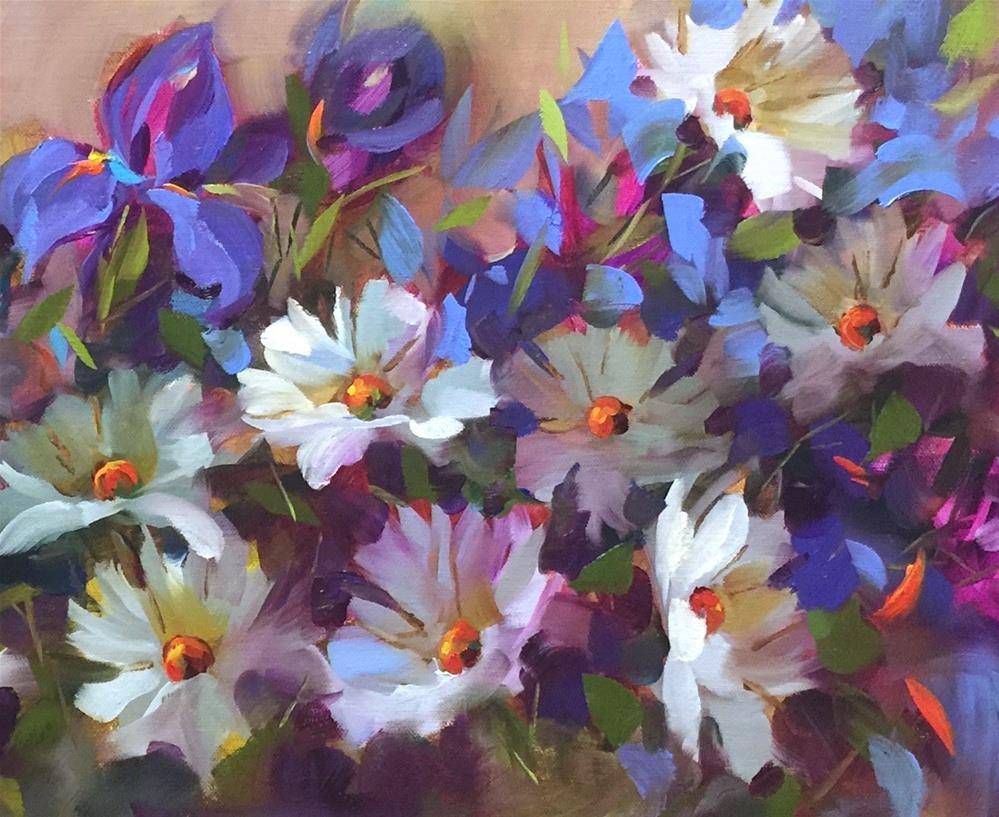 """""""Daisy Desireux and Painting Brilliant Colors"""" original fine art by Nancy Medina"""