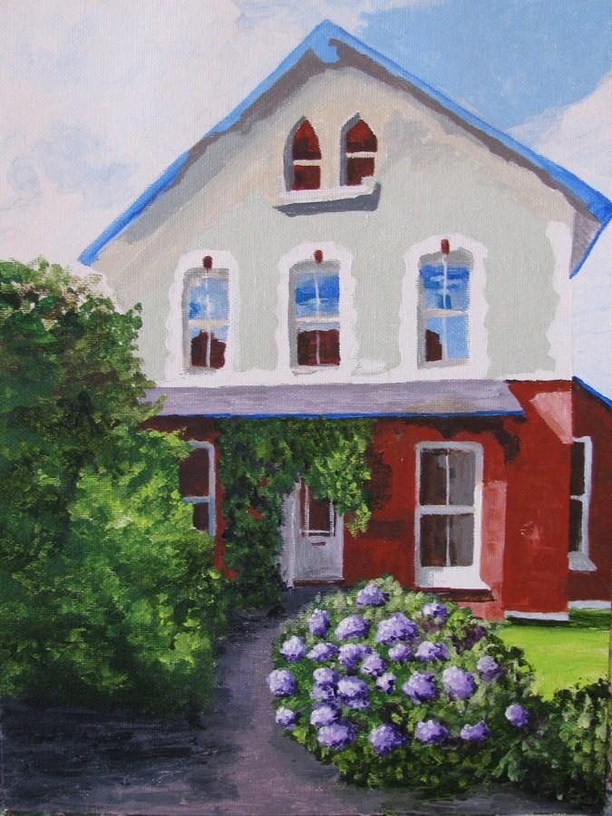 """""""Purple Flowers"""" original fine art by Nan Johnson"""