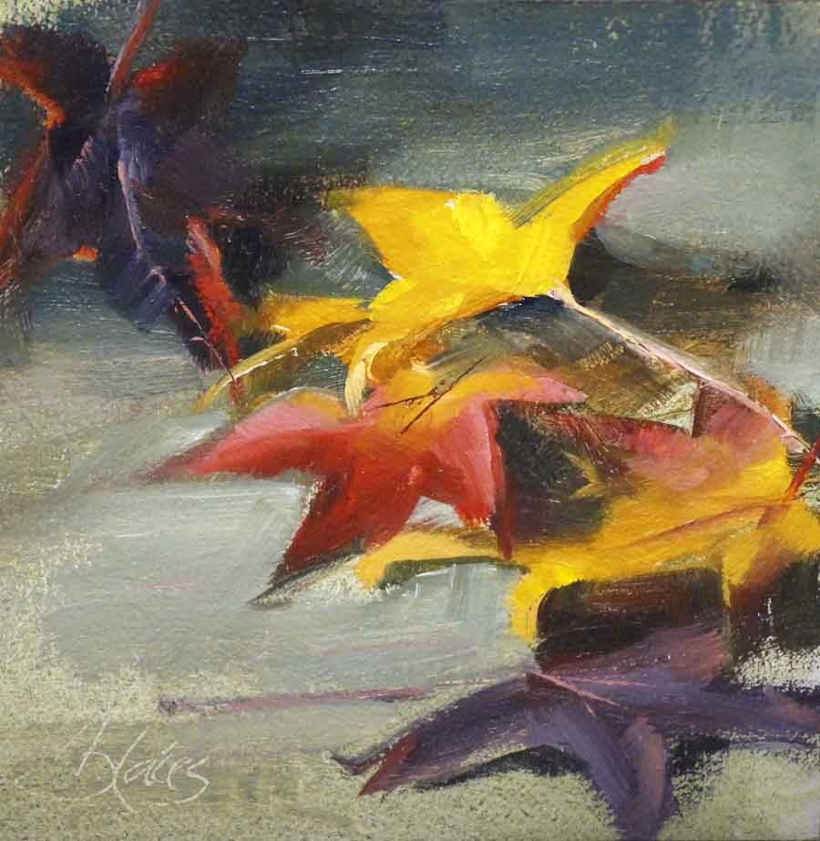 """Autumn Leaves"" original fine art by Pamela Blaies"