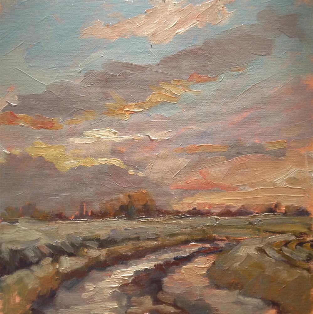 """Sunset, Moulton"" original fine art by Mo Teeuw"