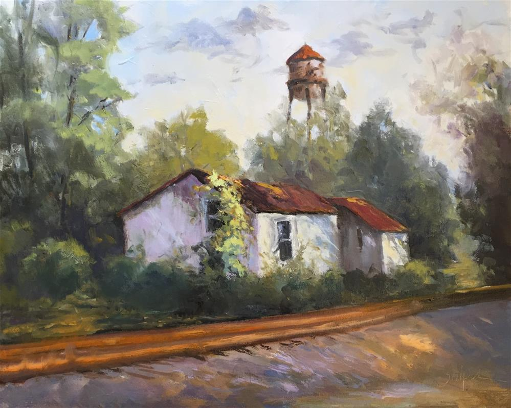 """Across the Tracks"" original fine art by Connie Snipes"