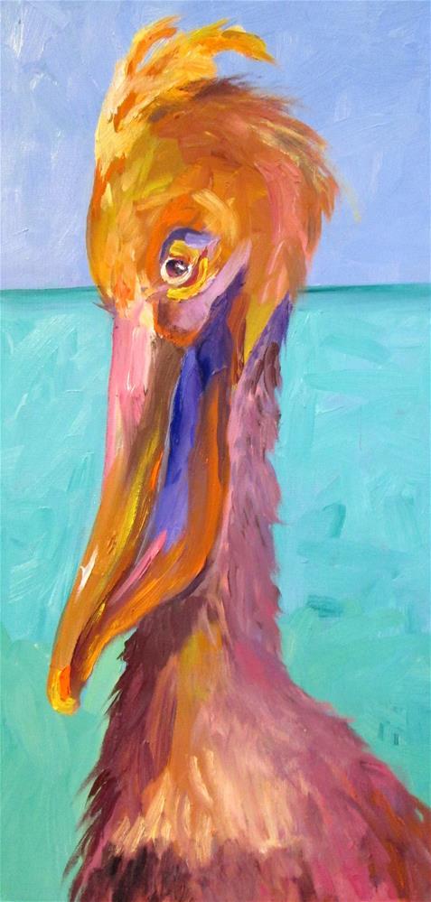 """""""Pelican No. 4"""" original fine art by Delilah Smith"""