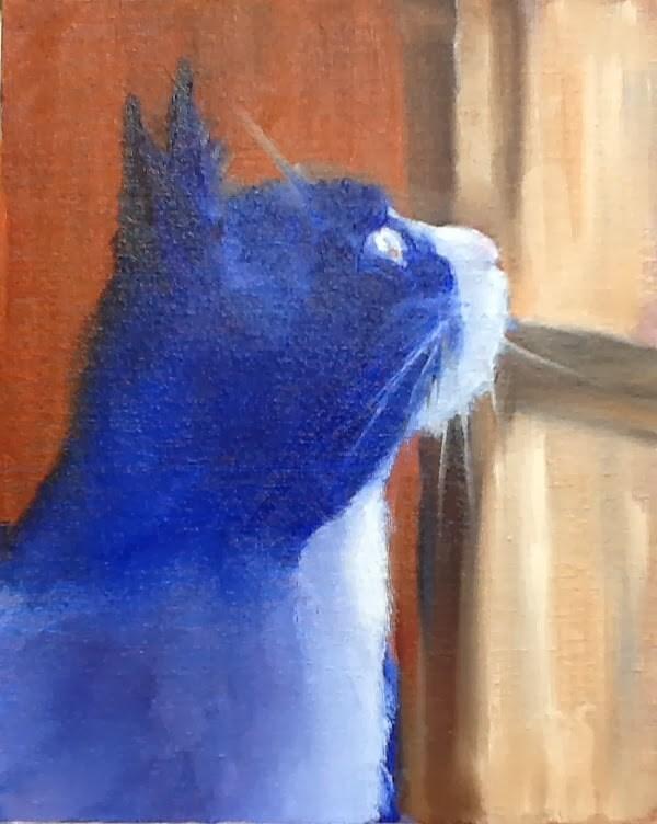 """Blue Max"" original fine art by Peggy Schumm"