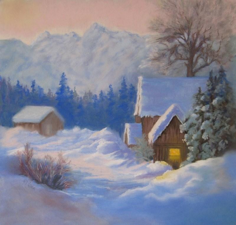 """""""Snowbound"""" original fine art by Ruth Mann"""