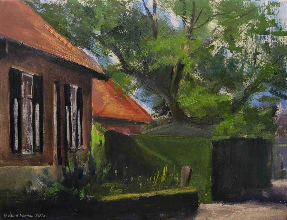 """Painting a painters house. Meghelen, Holland"" original fine art by René PleinAir"