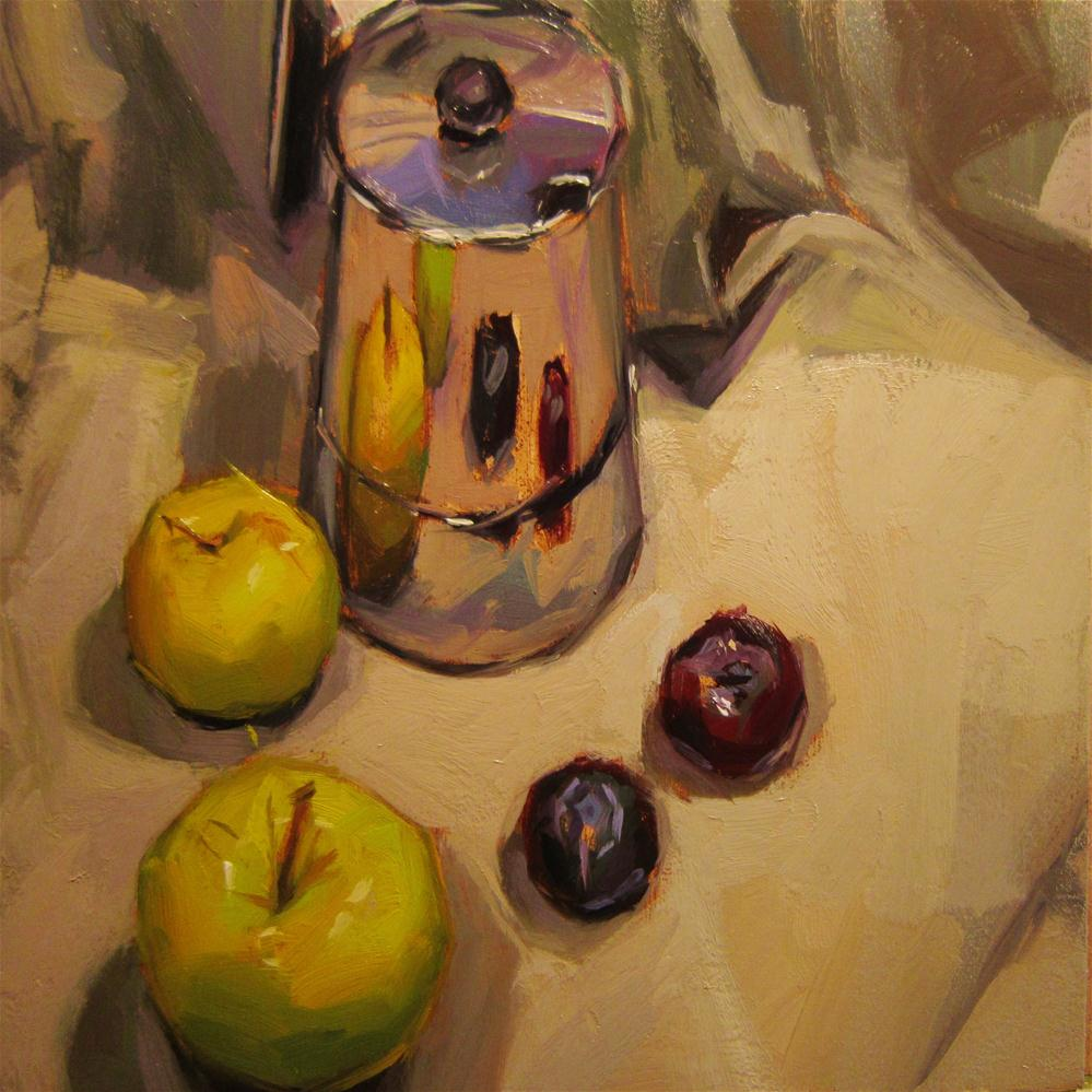 """Apple reflects"" original fine art by Víctor Tristante"