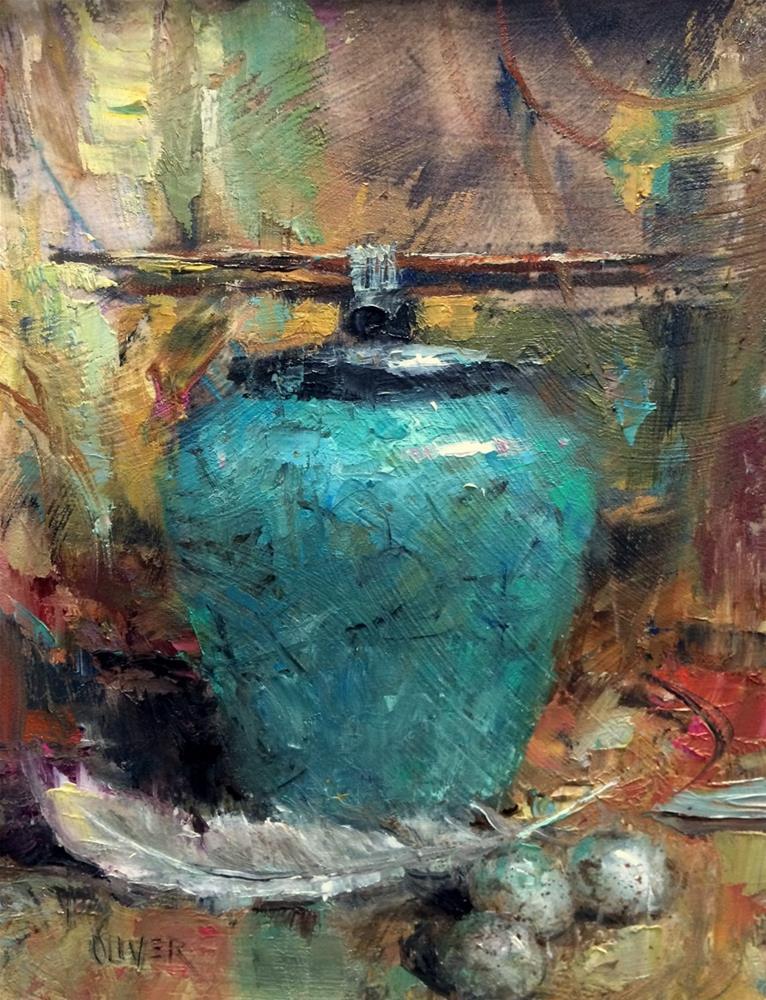 """""""Workshop Demo"""" original fine art by Julie Ford Oliver"""