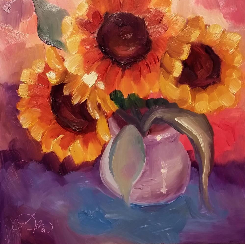 """Cheer Up"" original fine art by Leni Tarleton"