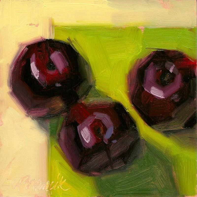 """Plum Delicious"" original fine art by Candace Brancik"