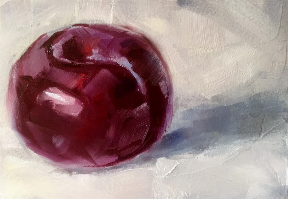 """Plum Study"" original fine art by Gary Bruton"