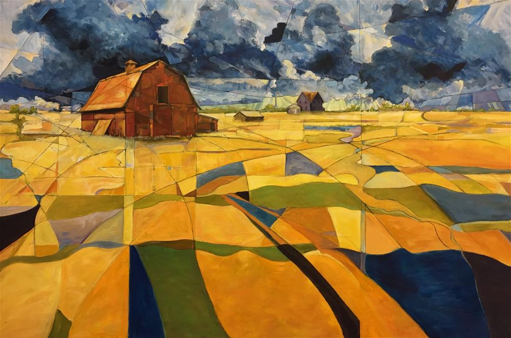 """Fractured Farm"" original fine art by Allison Doke"