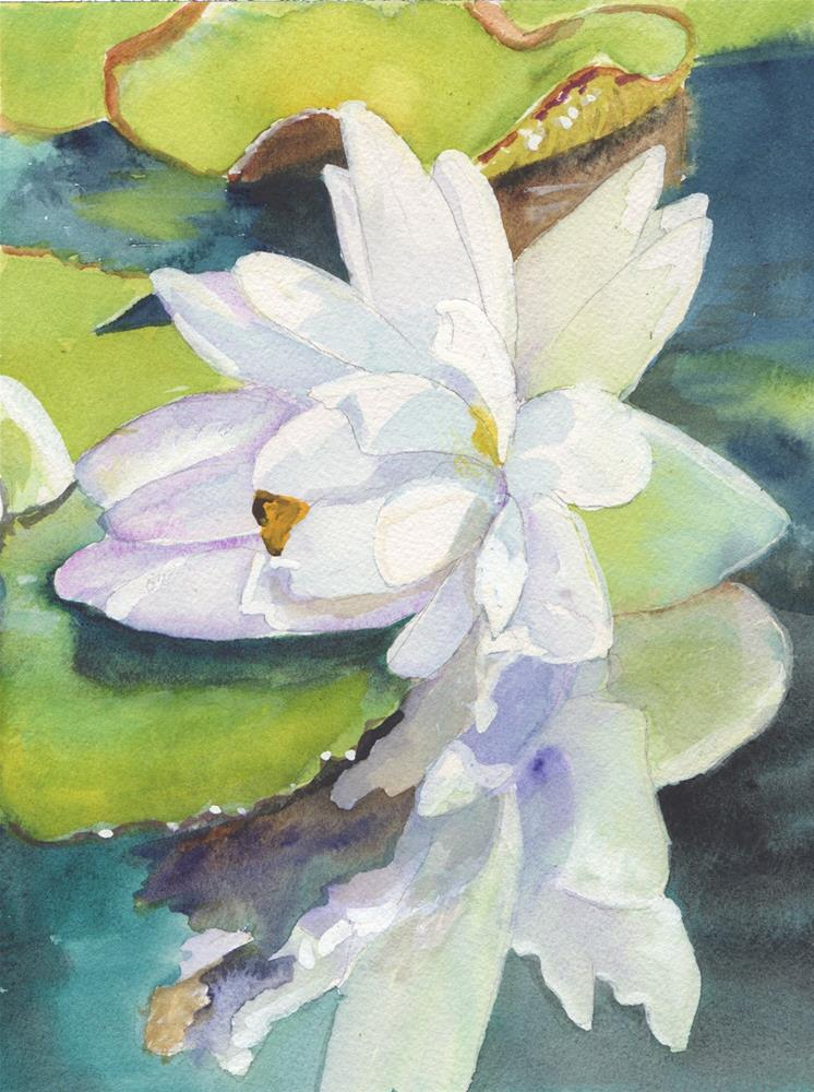 """""""WATER LILY #3"""" original fine art by Bunny Griffeth"""
