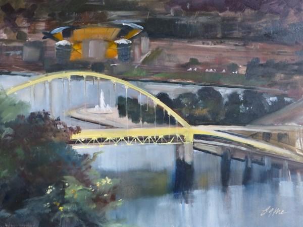 """View from Mount Washington"" original fine art by Beth Bathe"