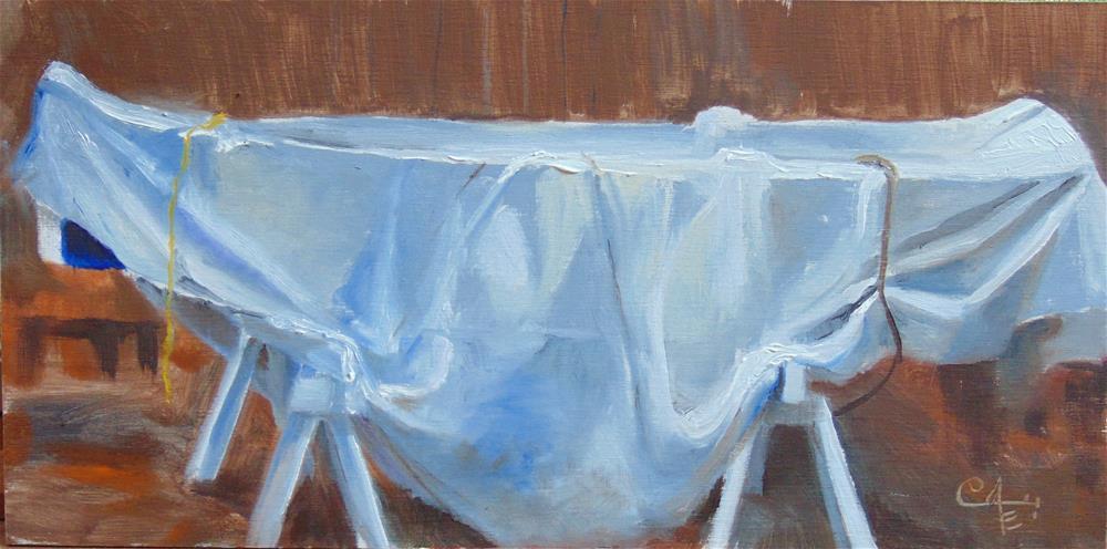 """Under Cover"" original fine art by Catherine Kauffman"
