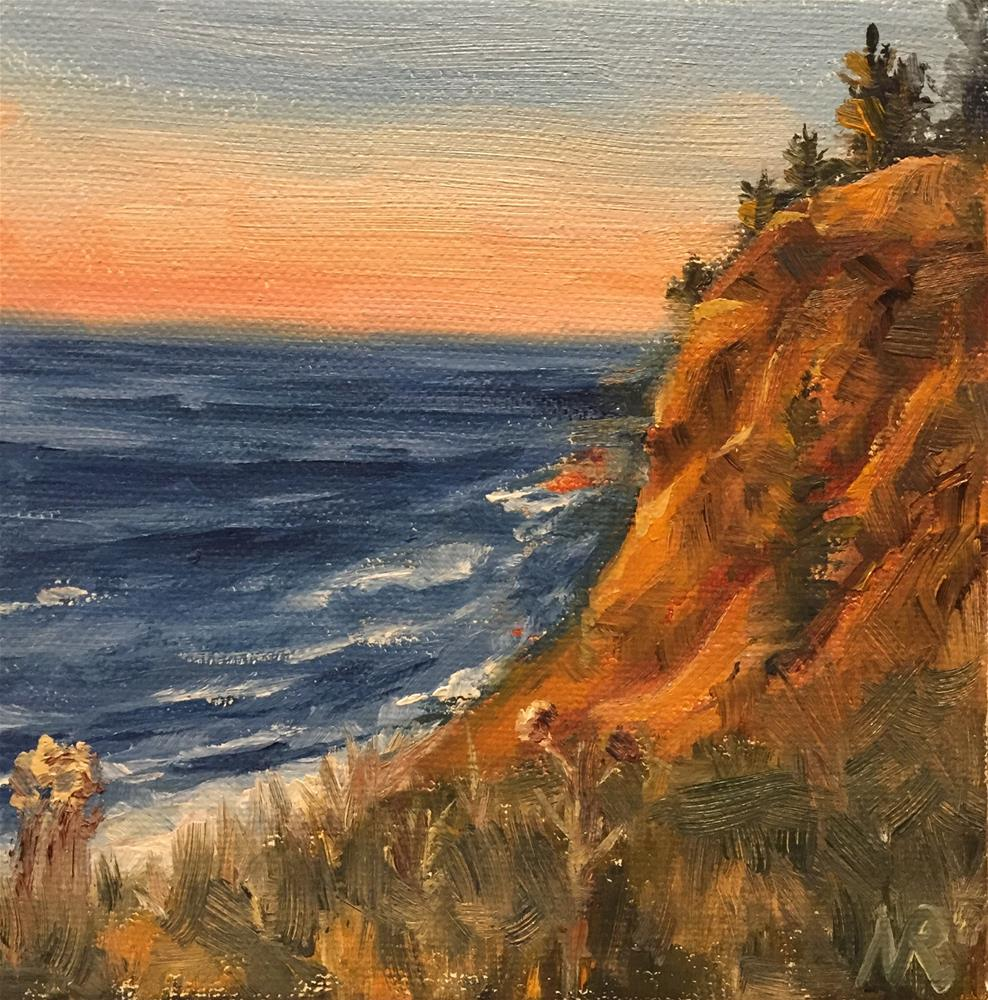 """Sunset on Cascade Cade"" original fine art by Natasha Ramras"