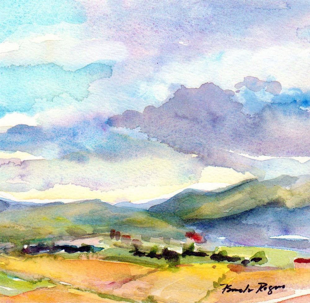 """Greek Springtime"" original fine art by Pamela Jane Rogers"