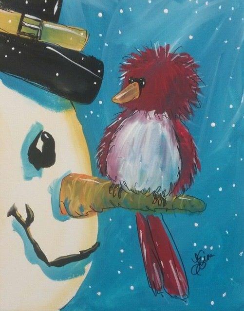"""""""Winter Friend"""" original fine art by Terri Einer"""