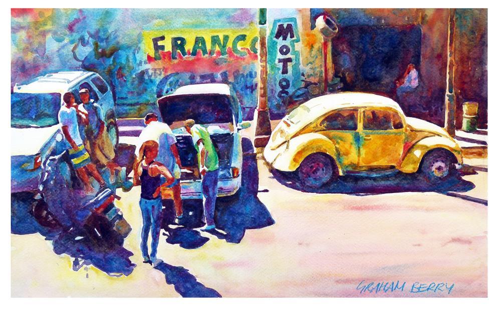 """Yellow beetle"" original fine art by Graham Berry"