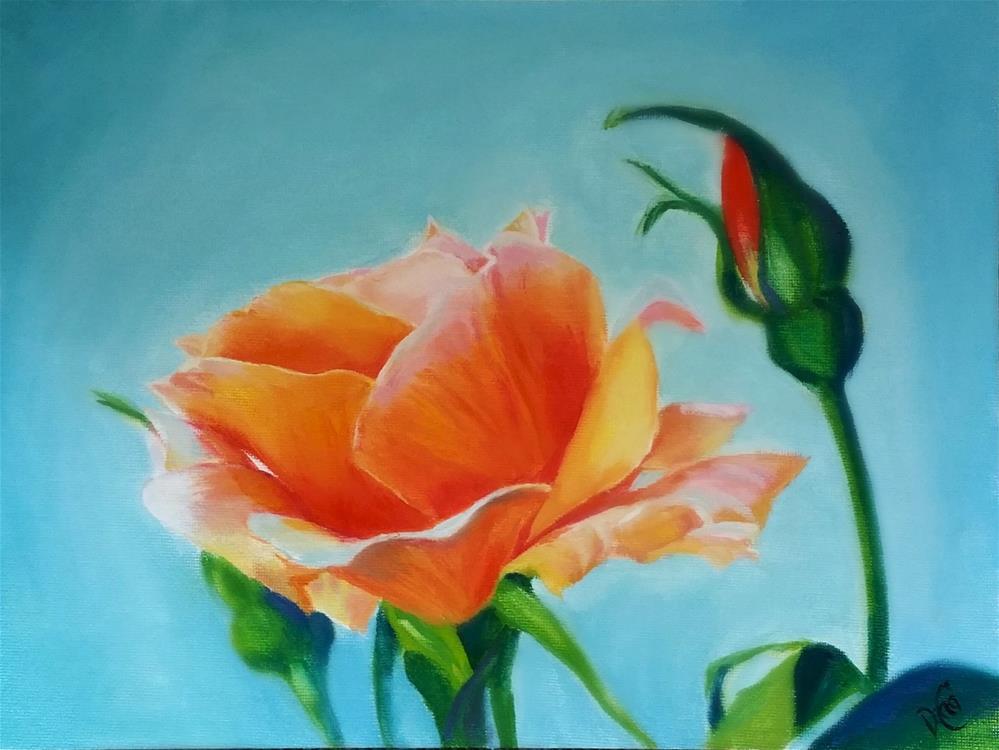 """""""Rose 4 U"""" original fine art by Dana C"""