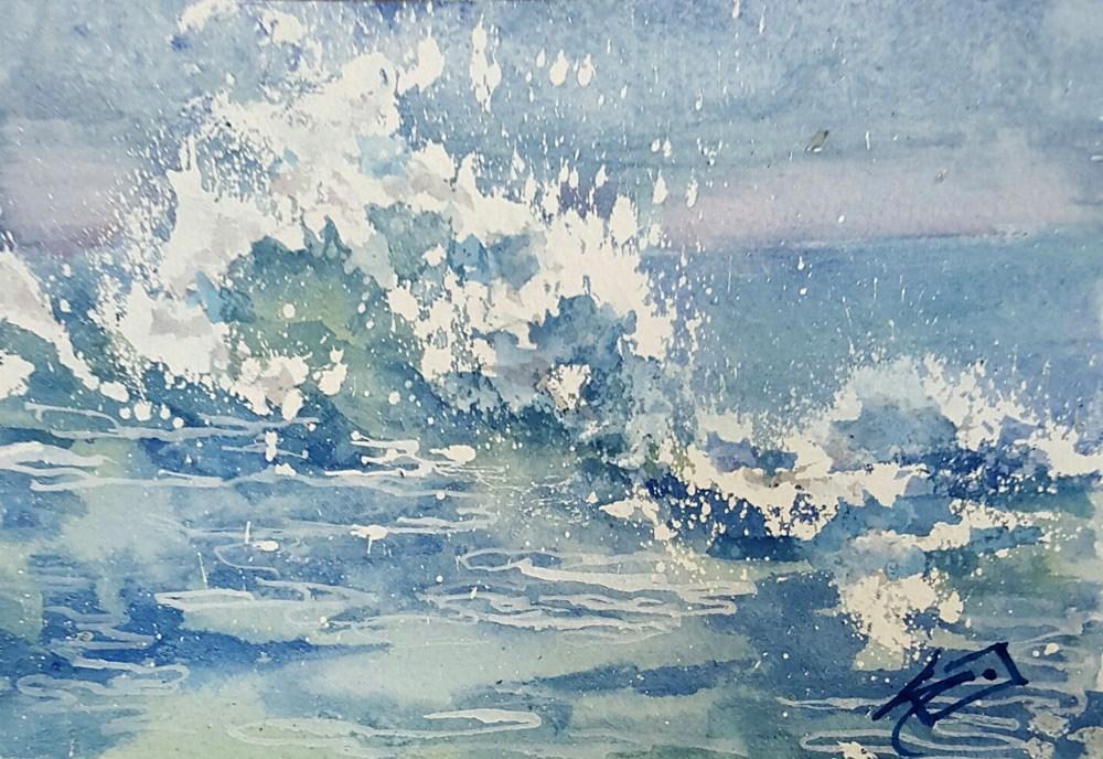 """""""Splash 2"""" original fine art by Sue Dion"""