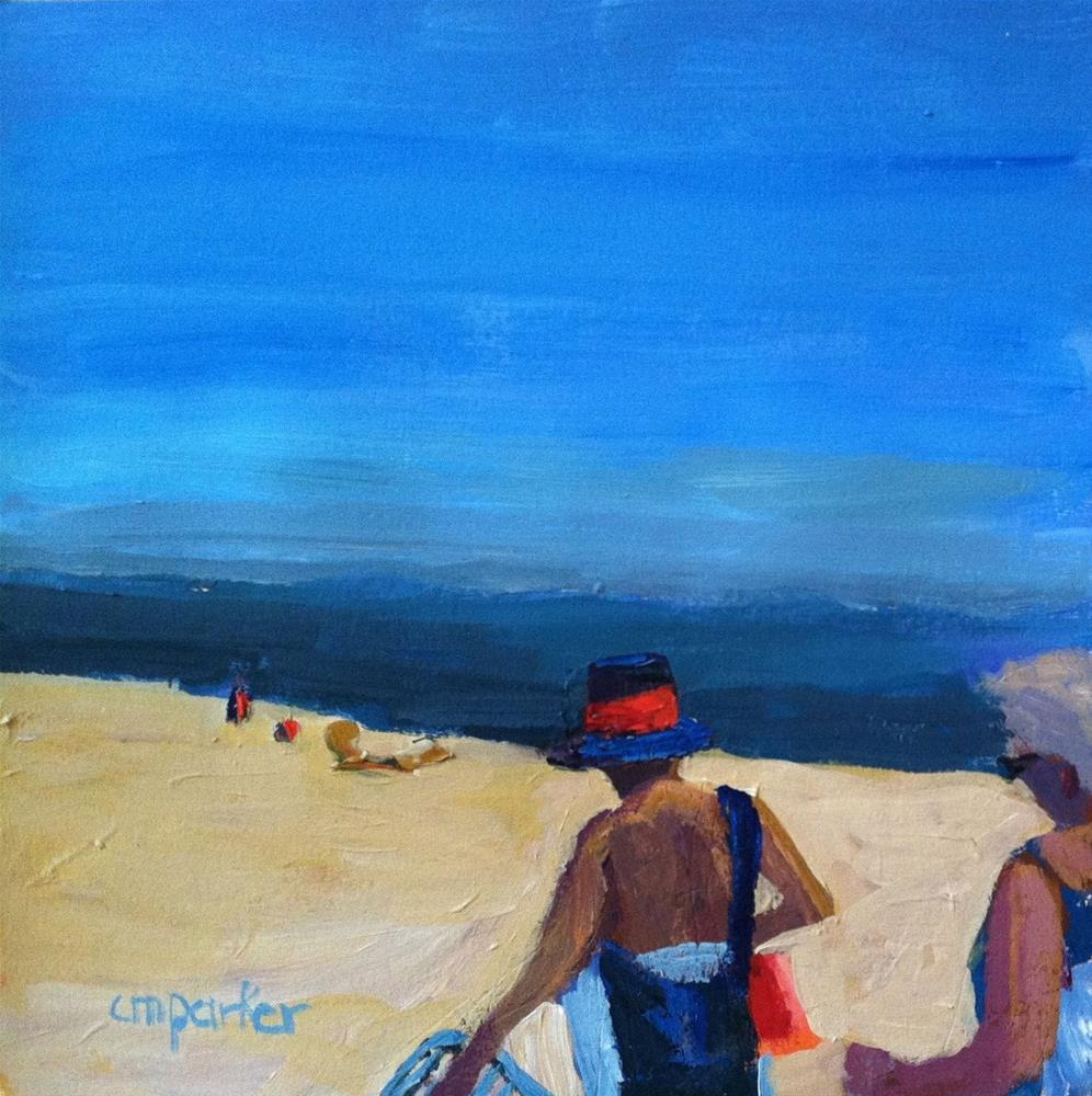 """Summer at the Shore"" original fine art by Christine Parker"